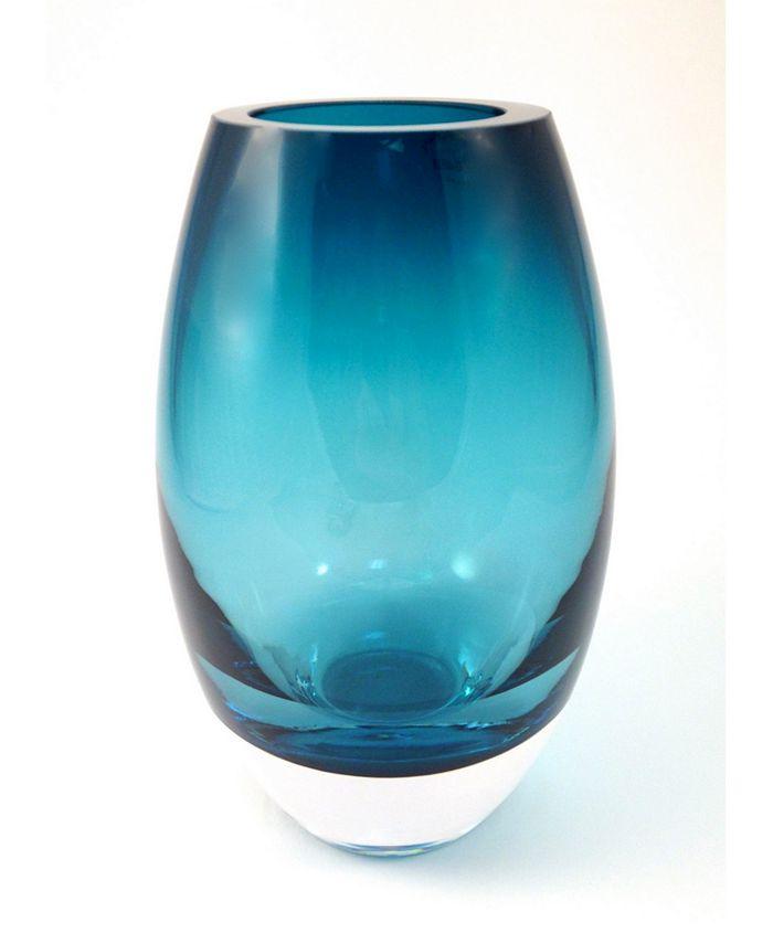 "Badash Crystal - Peacock 9"" Vase"