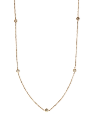 """Trio by Effy Collection Diamond Necklace, 14k Rose Gold Diamond Seven Station Necklace 24"""" (5/8 ct. t.w.)"""