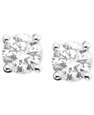 Diamond Earrings, 14k White Gold Certified Near Colorless Diamond Stud Earrings (2 ct. t.w.)
