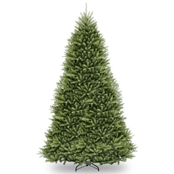 National Tree Company National Tree 7 .5' Snowy Mountain Pine Slim Hinged Tree with 500 Clear Lights