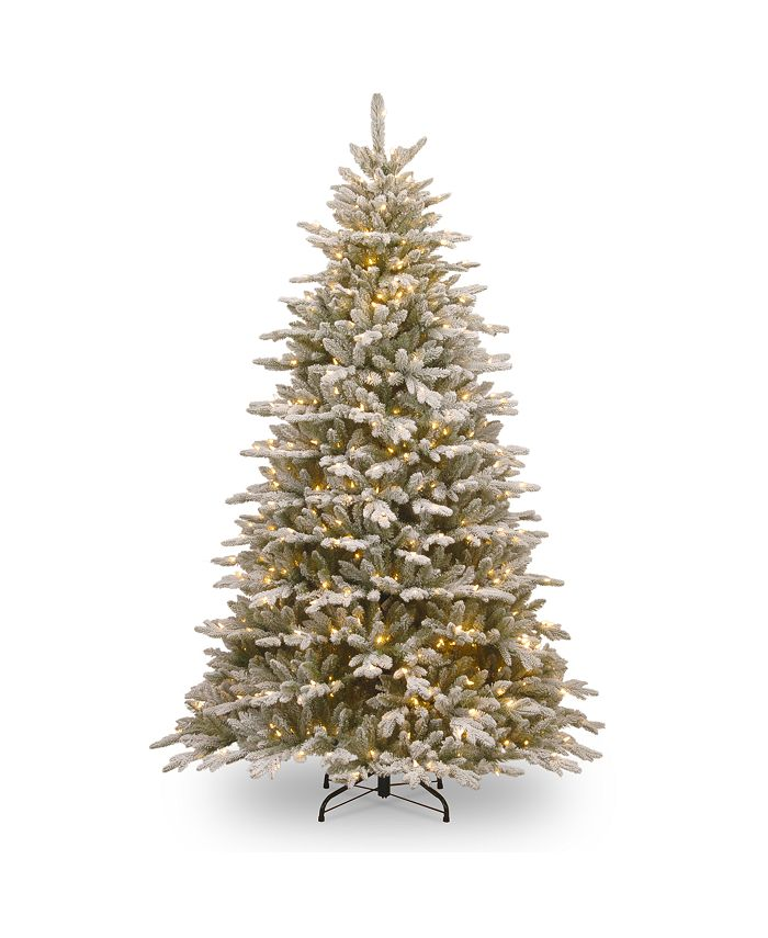 National Tree Company - 7 .5'Feel Real(R)Snowy Sierra Spruce Hinged Tree with 750 Clear Lights