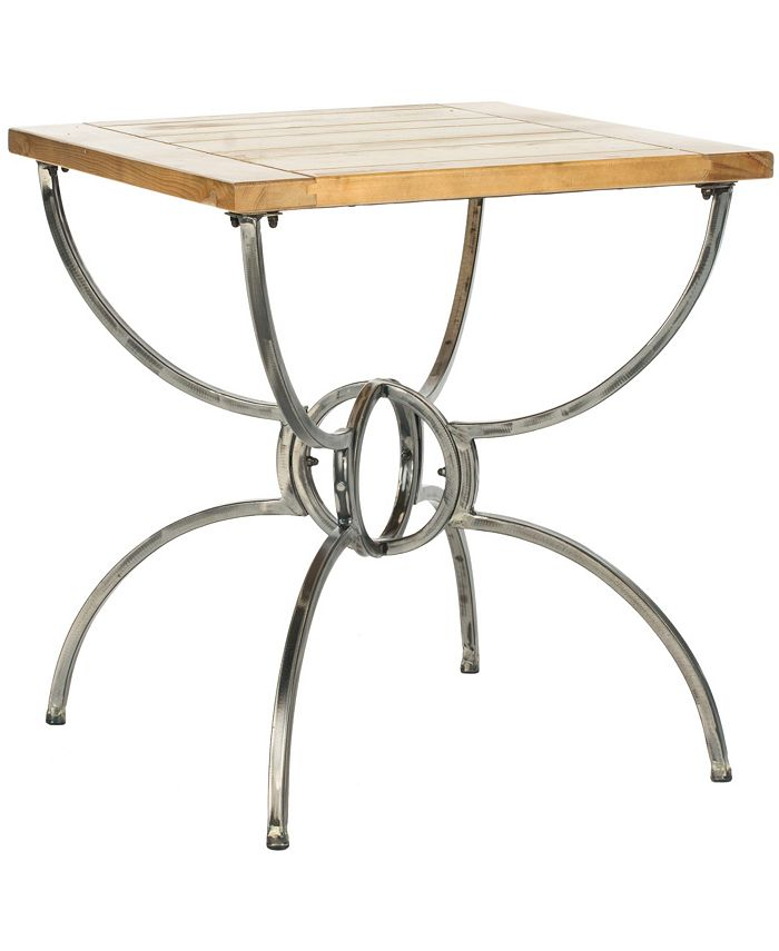 Safavieh - Alvin Wood Top End Table, Quick Ship