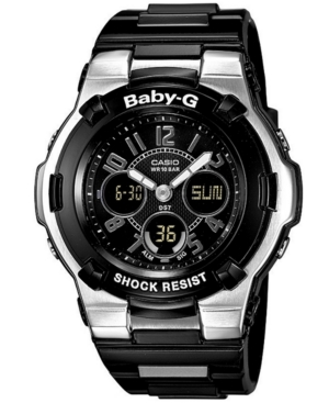 Baby-g Watch, Women's Analog Digital Black Resin Strap BGA110-1B2
