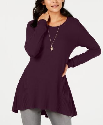 Style & Co Ribbed High-Low Tunic Top, Created for Macy's