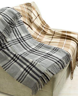 Lauren by Ralph Lauren Bedding, Wool Plaid Throw Blankets