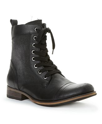 GUESS Shoes, Alfred Leather and Canvas Boots. Web ID: 663414