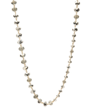 Kenneth Cole New York Necklace, Silver Faceted Glass Station Necklace