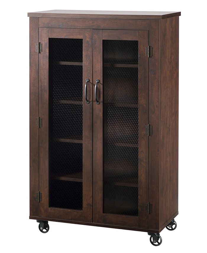 Furniture of America - Alesia Shoe Cabinet With Casters