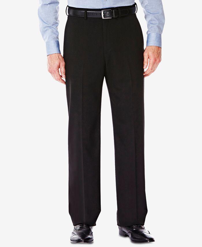 Haggar - Men's Classic/Regular Fit Stretch Sharkskin Suit Pants