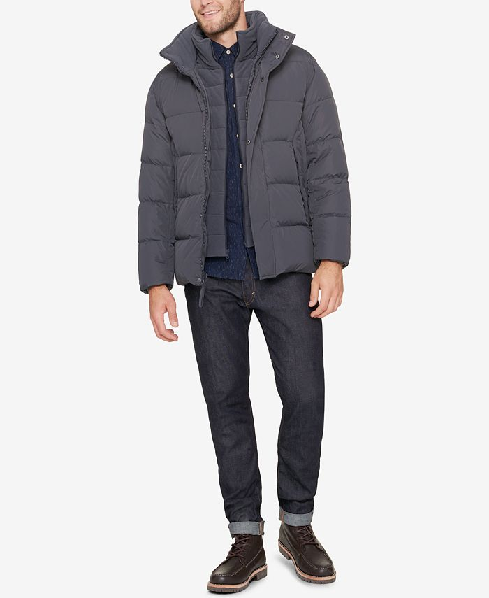 Marc New York - Men's Puffer Jacket with Fleece Bib