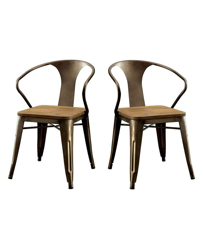 Furniture of America - Mayfield Dining Chair (Set Of 2), Quick Ship