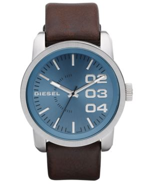 Diesel Watch, Brown Leather Strap 54x46mm DZ1512
