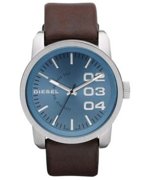 Diesel Watch, Brown Leather Strap 54x46mm DZ1512 $ 120.00