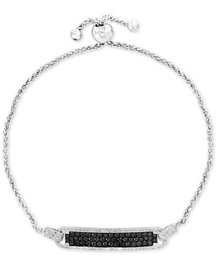EFFY Collection EFFY® Diamond Bolo Bracelet (1 ct. t.w.) in 14k White Gold & Reviews - Bracelets - Jewelry & Watches - Macy's