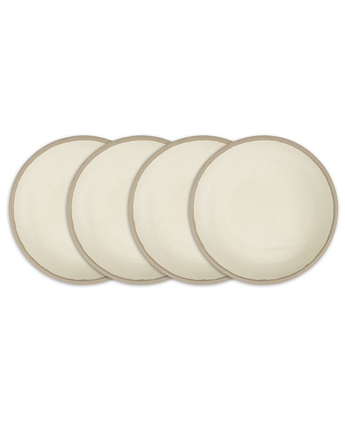 "Q Squared - Potter Stone 8"" Melaboo 4-Pc. Salad Plate Set"