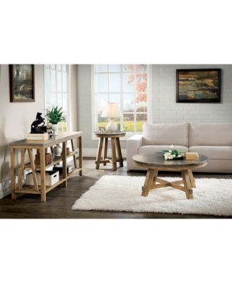 Breslin Bluestone Rectangle Side Table