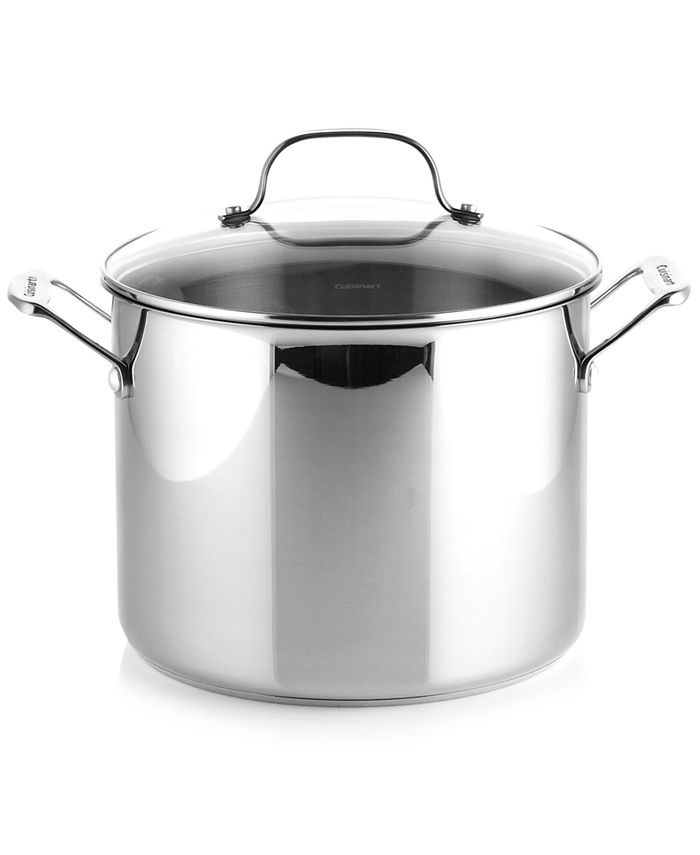 Cuisinart - Chef's Classic Stock Pot, 10 Qt. Stainless Steel