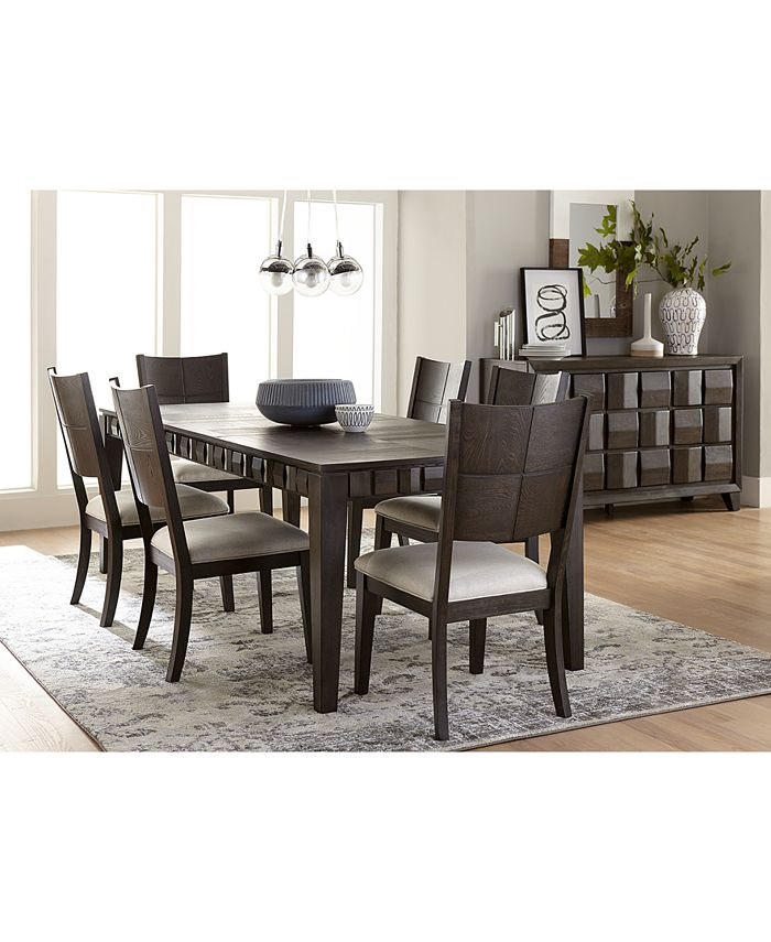 Furniture - Matrix Dining , 7-Pc. Set (Table & 6 Side Chairs)