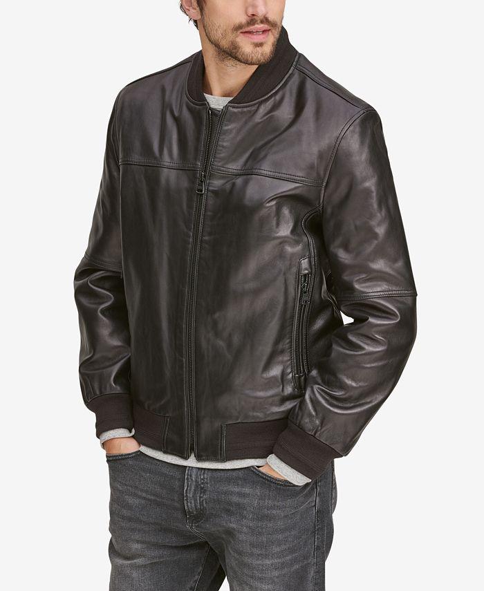 Marc New York - Men's Summit Leather Bomber Jacket