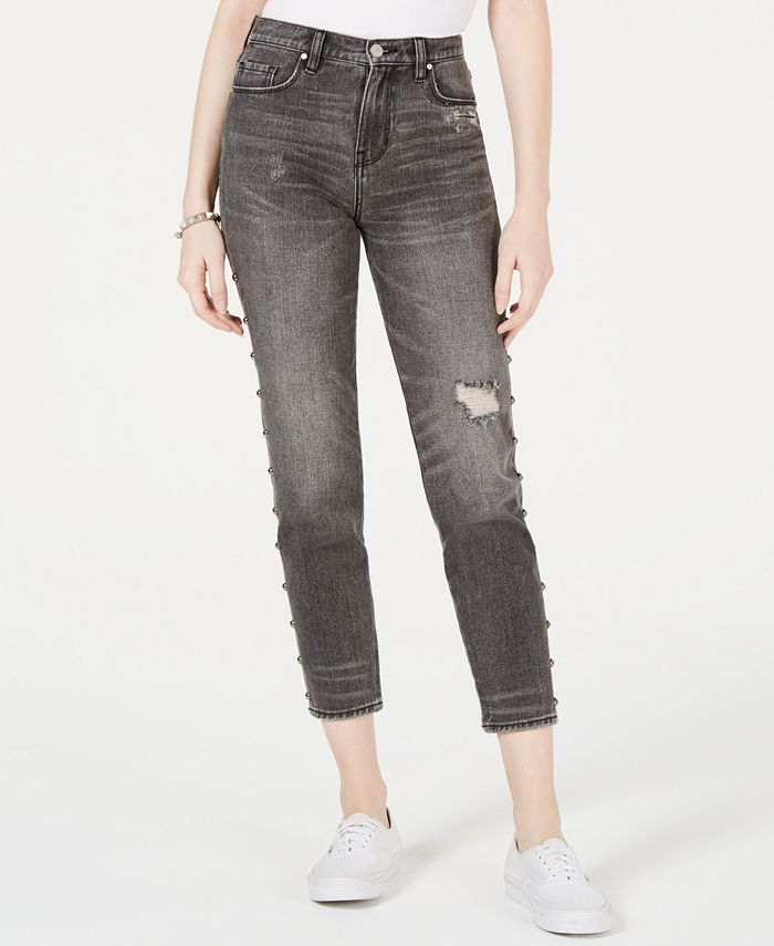 Kendall + Kylie - Cotton The Icon Studded Ripped Jeans