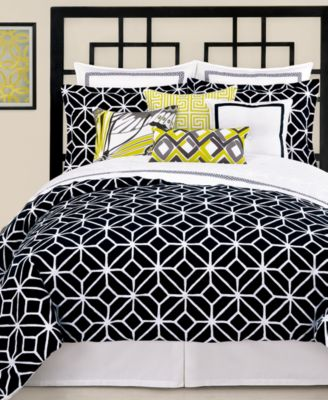 Trina Turk Trellis Black King Duvet Cover Set