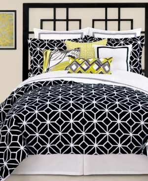 Trina Turk Bedding, Trellis Black King Comforter Set Bedding
