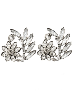 Betsey Johnson Earrings, Crystal Flower Stud Earrings