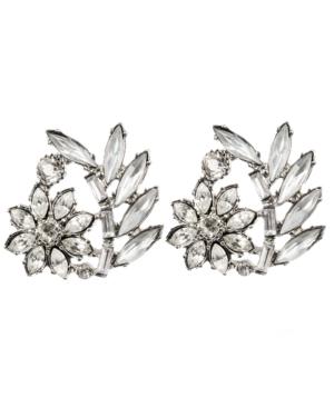 Betsey Johnson Earrings, Crystal Flower Stud Earrings