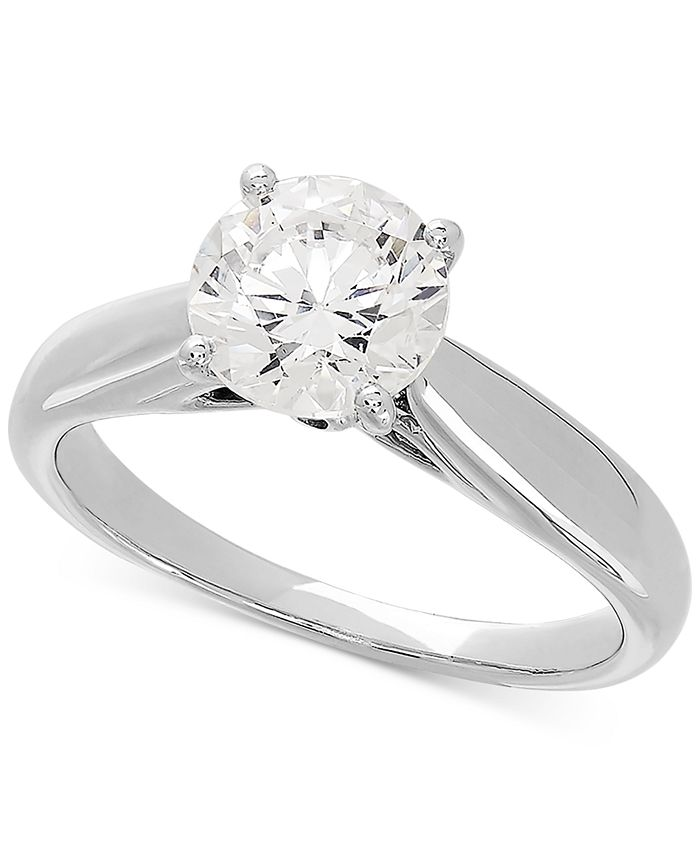 Grown With Love - Lab Grown Diamond Solitaire Engagement Ring (1-1/2 ct. t.w.) in 14k White Gold
