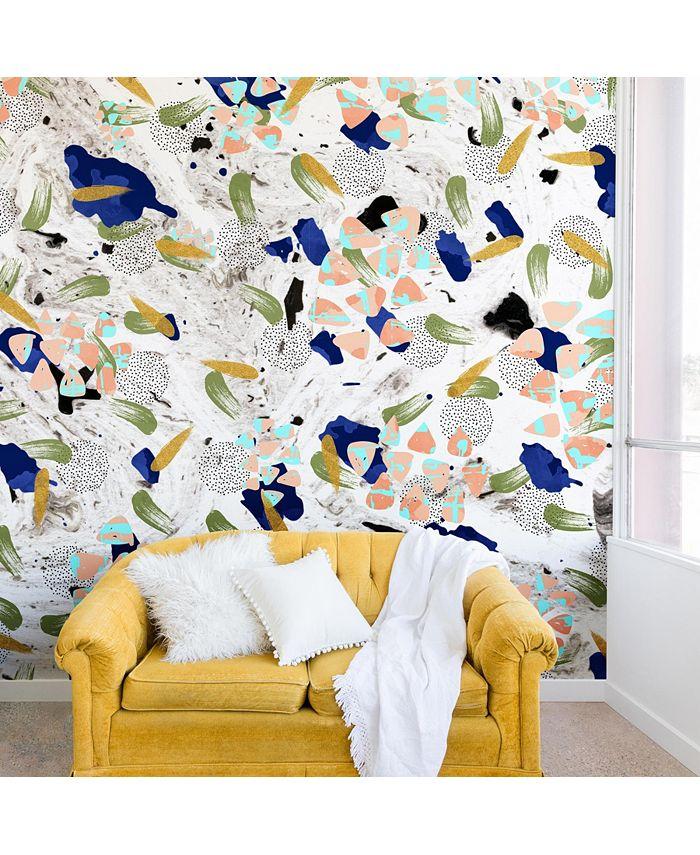 Deny Designs - Marta Barragan Camarasa Abstract shapes of textures II Wall Mural
