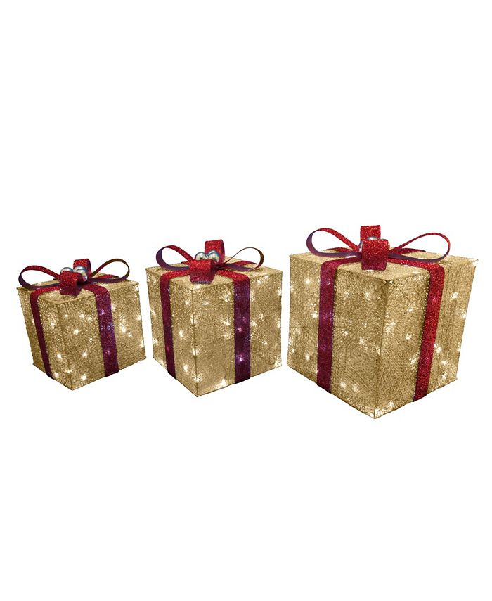 National Tree Company National Tree Pre Lit Crystal Champagne Gift Box Assortment Reviews Shop All Holiday Home Macy S