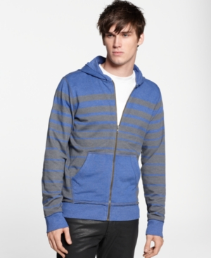 Bar III Hoodie, Tspoon Striped Zip Up