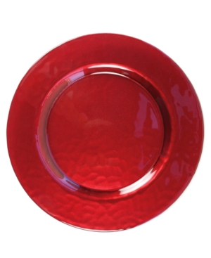 Jay Imports Serveware, Glory Red Glass Charger Plate