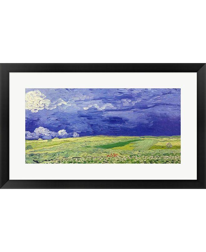 Metaverse Wheatfields Under Th By Vincent Van Gogh Framed Art