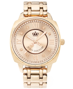 Juicy Couture Watch, Women's Beau Rose Gold Plated Stainless Steel Bracelet 1900807