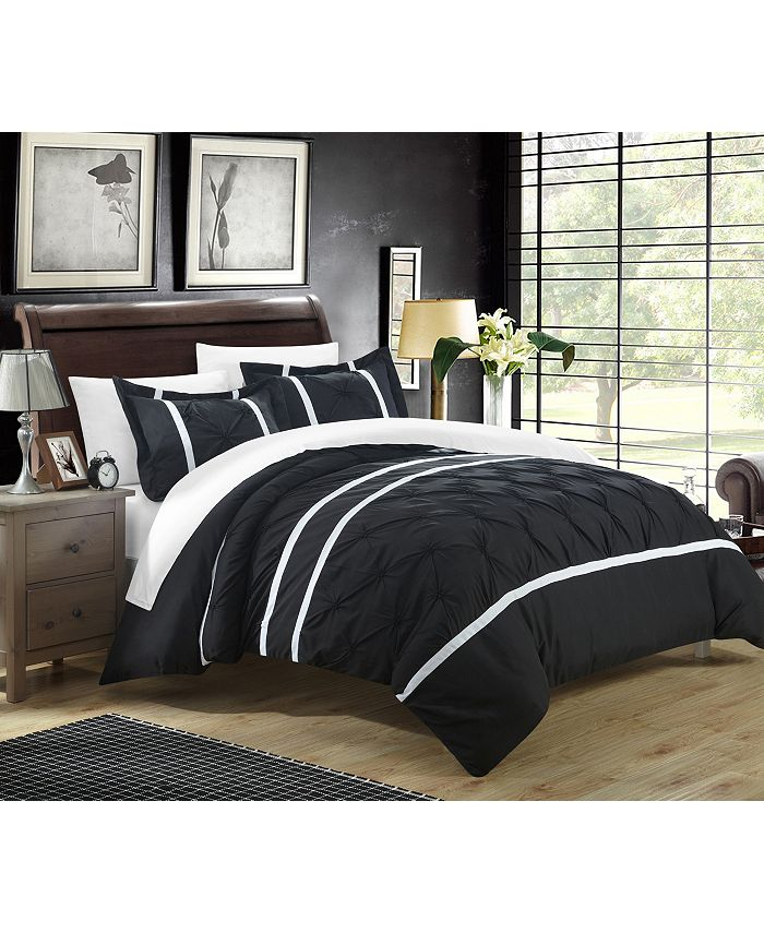 Chic Home - Veronica 7-Pc. Bed In a Bag Duvet Sets