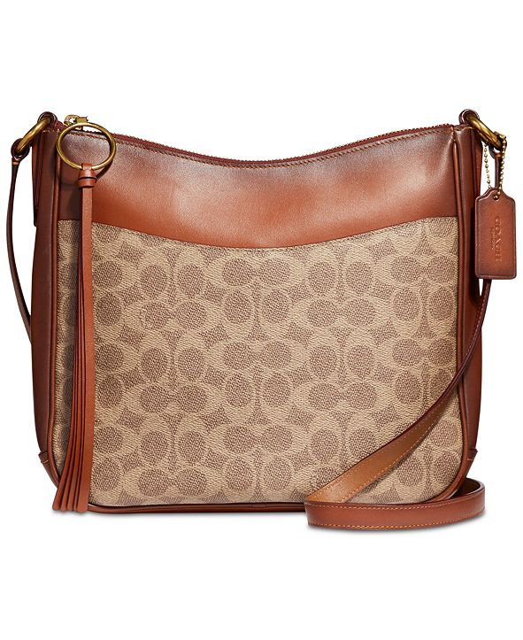 COACH Coated Canvas Signature Chaise Crossbody