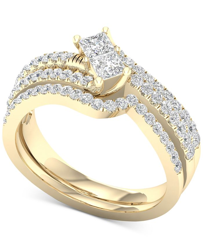 Macy's - Diamond Two-Stone Bridal Set (7/8 ct. t.w.) in 14k Gold