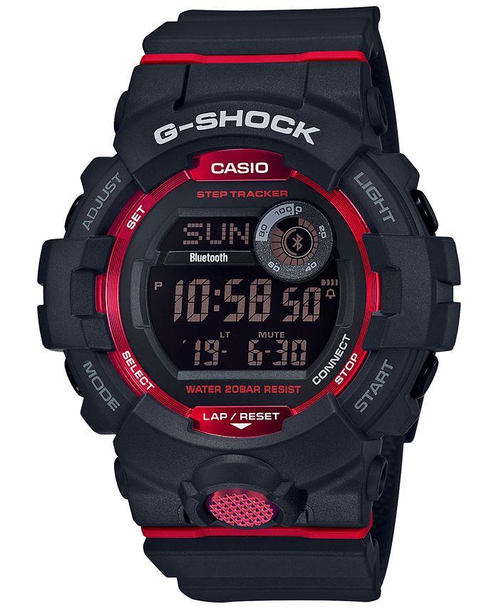 G-Shock - Men's Black Resin Strap Watch 48.6mm