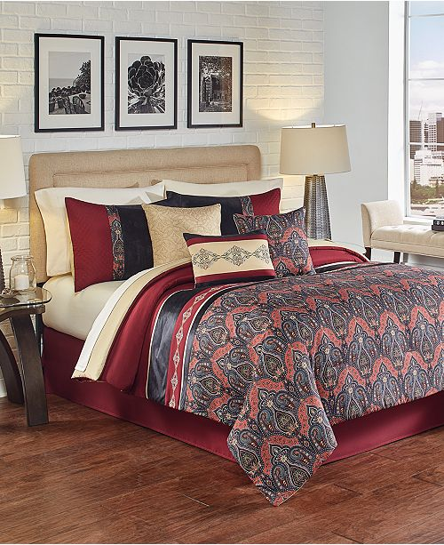 CLOSEOUT! Farrah 7 Pc. Comforter Sets, Created for Macy's