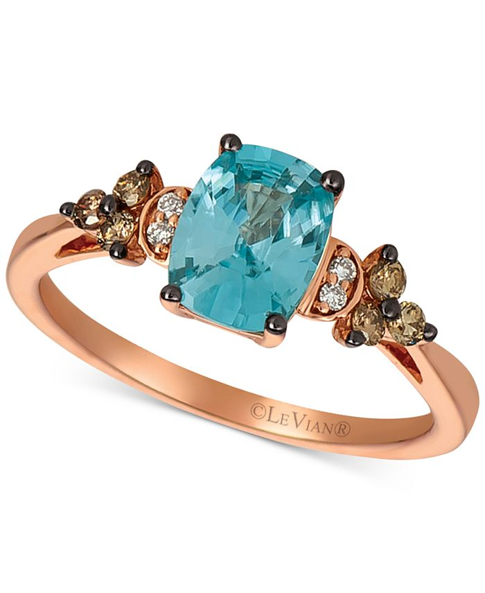 Le Vian - Pomegranate Garnet (2-3/4 ct. t.w.) & Diamond (1/5 ct. t.w.) Ring in 14k Rose Gold (Also Available in Blueberry Zircon & Peach Morganite)