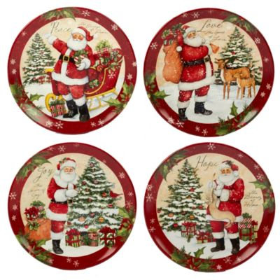 Holiday Wishes 4-Pc. Dinner Plate asst.