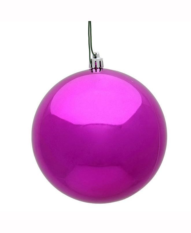 "Vickerman 8"" Fuchsia Shiny Uv Treated Ball Christmas Ornament"