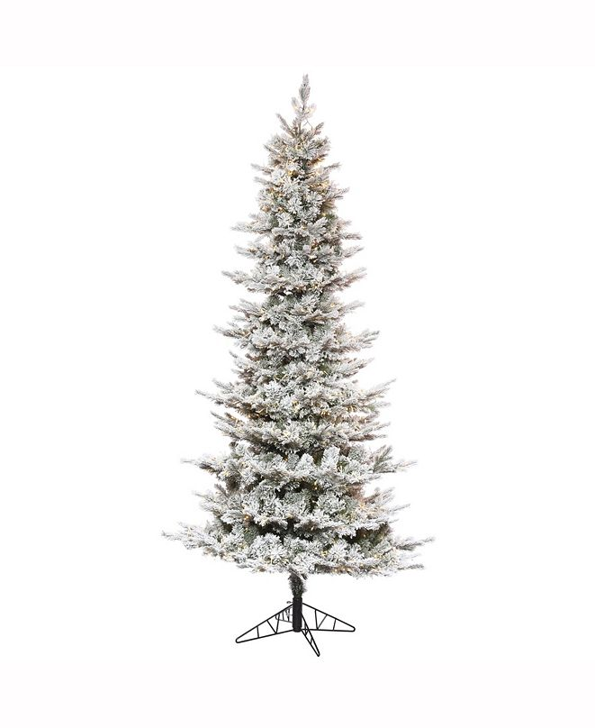 "Vickerman 9' X 51"" Flocked Kiana Artificial Christmas Tree"
