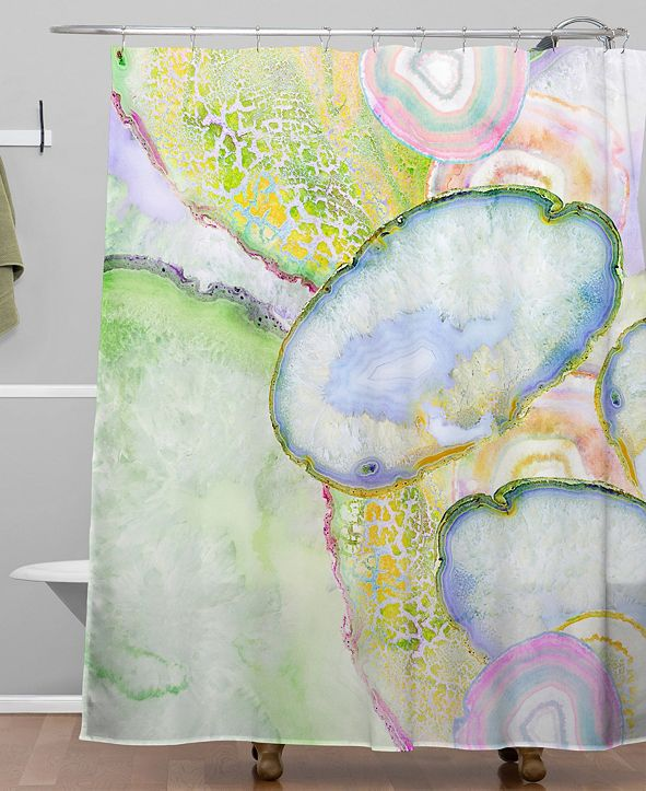 Deny Designs Iveta Abolina Agate Dreams I Shower Curtain