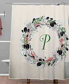 Deny Designs Iveta Abolina Silver Dove Christmas P Shower Curtain