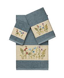 Linum Home Serenity 3-Pc. Embellished Towel Set