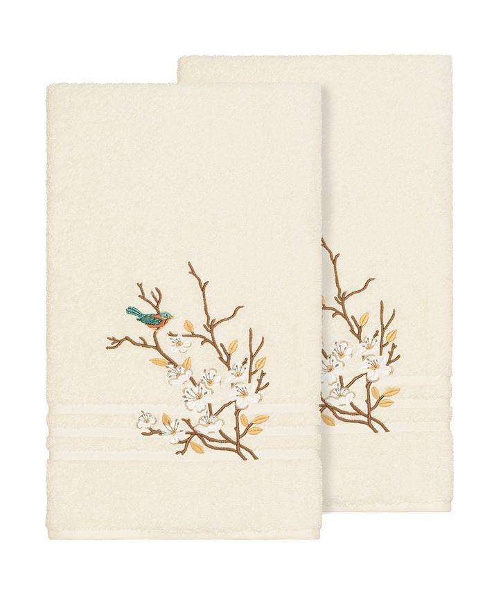 Linum Home - SPRING TIME 2PC Embellished Bath Towel Set
