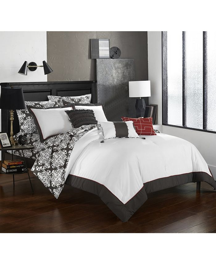 Chic Home - Tania 10-Pc. Bed In a Bag Comforter Sets