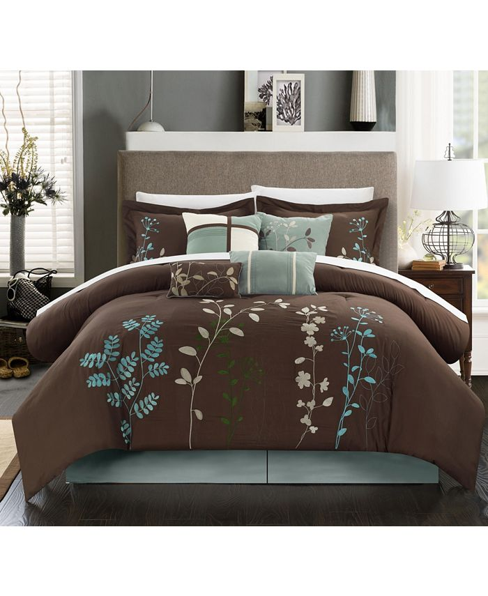 Chic Home - Bliss Garden 12-Pc. Queen Comforter Set
